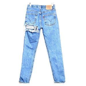 VINTAGE 501 LEVI'S Ripped Classic Wash Denim Jeans